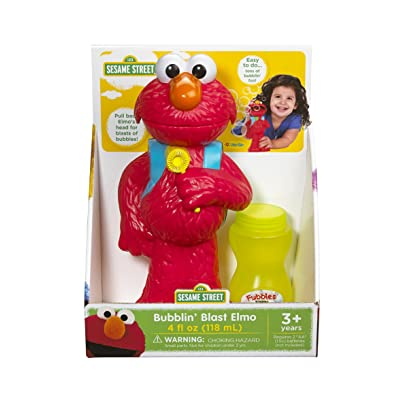 Little Kids Bubblin' Blast Elmo, Red: Toys & Games