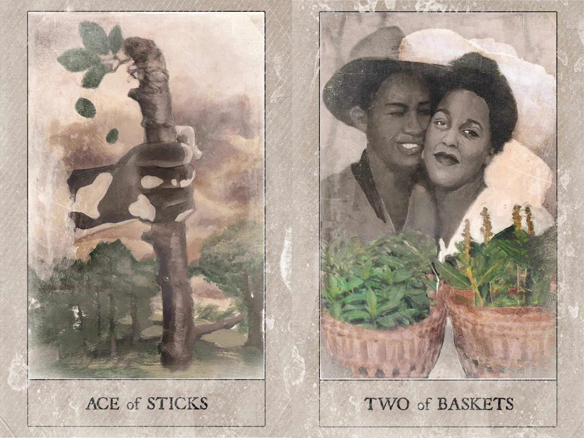 caralin 78 Cards Deck The Hoodoo Tarots Full English Oracle Card Family Party Board Game Art Paper Tarots