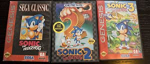 Sonic Bundle Pack! Comes with Sonic 1,2 & 3 All in Their Original Boxes.