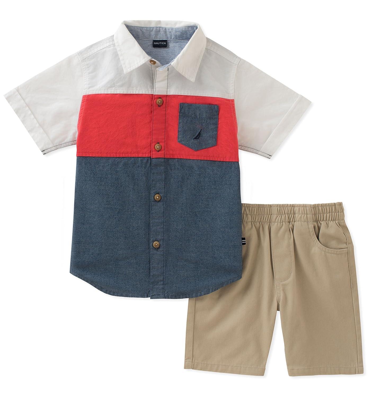 Nautica Baby Boys Shirt with Shorts N130F31Q