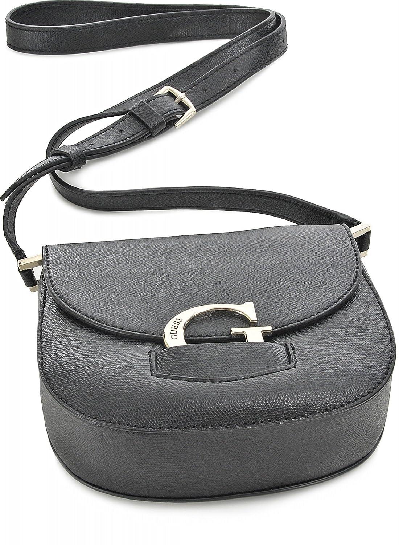 Guess Hwvg64 84220 Sac d'épaule femmes Noir: Chaussures et Sacs