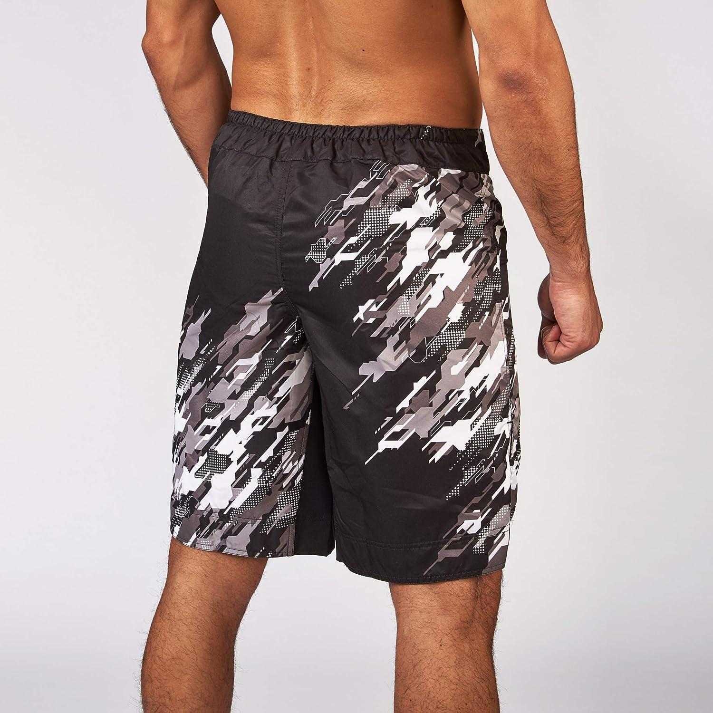 M Pantal/ón Corto Unisex para Adulto Pantalones Cortos MMA Leone 1947 Neo Camo Unisex Adulto Grigio Mimetico AB912
