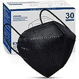 KN95 Face Mask 30 PCs, 5-Layer Black Face Mask for Men & Women Filter Efficiency≥95%