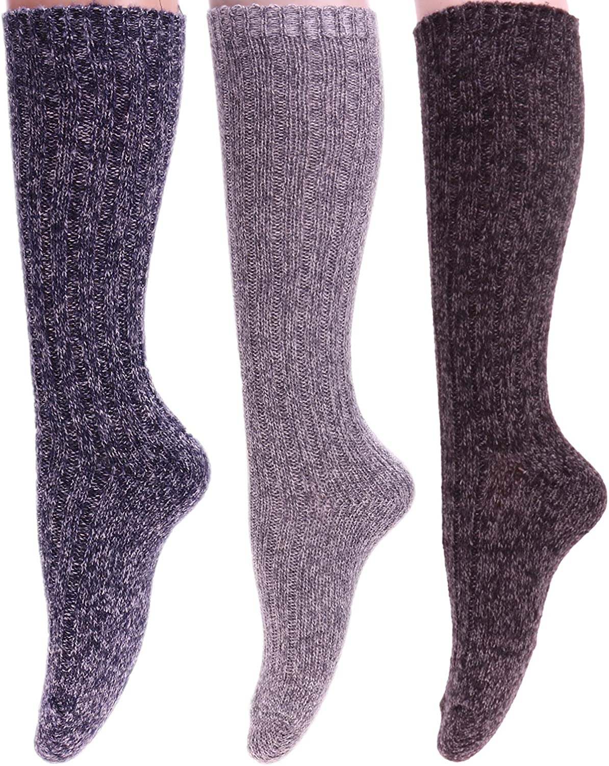 Size Mixed 1 5 Pairs Women Knit Cotton Crew Socks Fashion Slouch Casual Socks