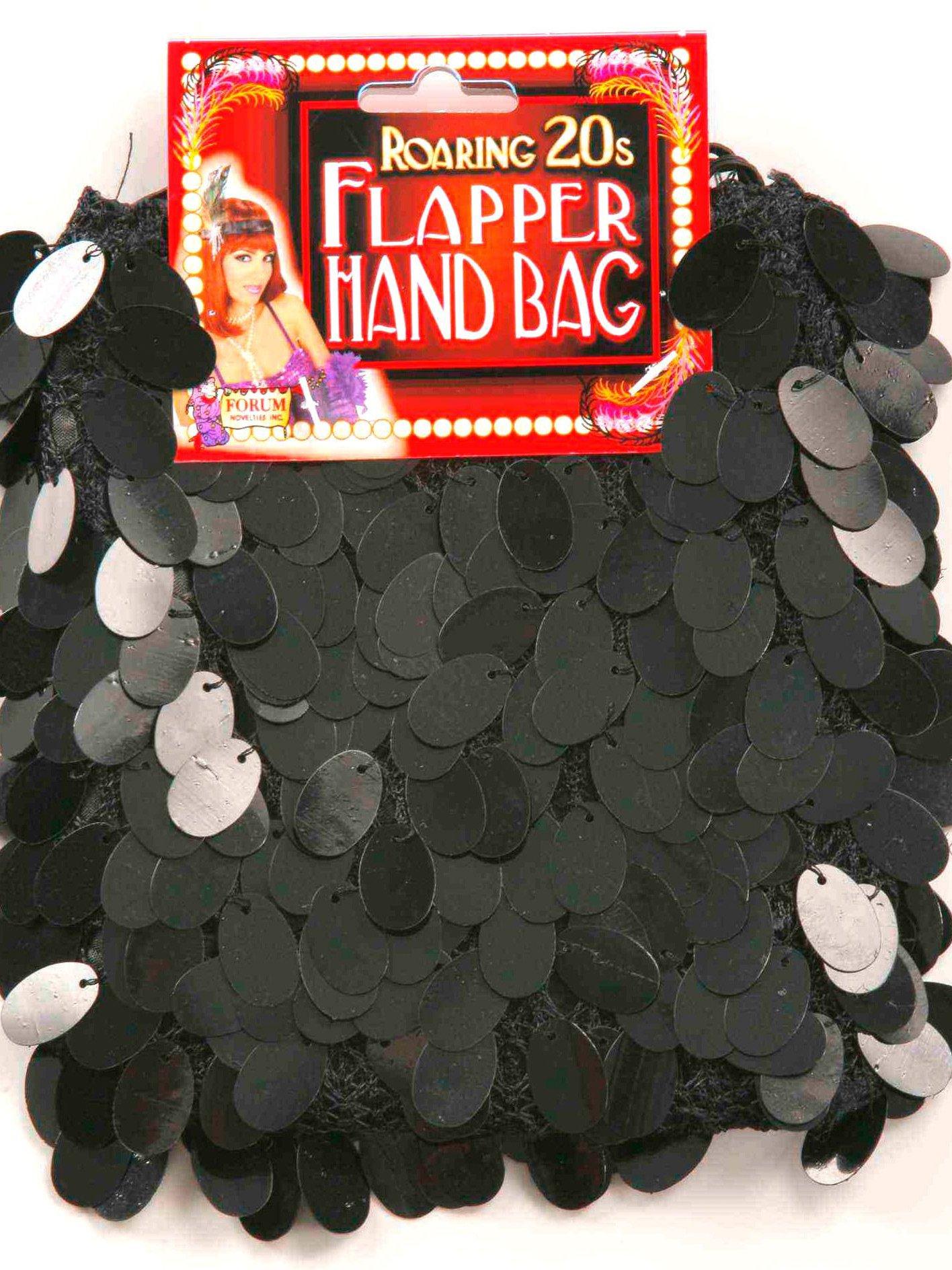 Sequin Flapper Purse Black