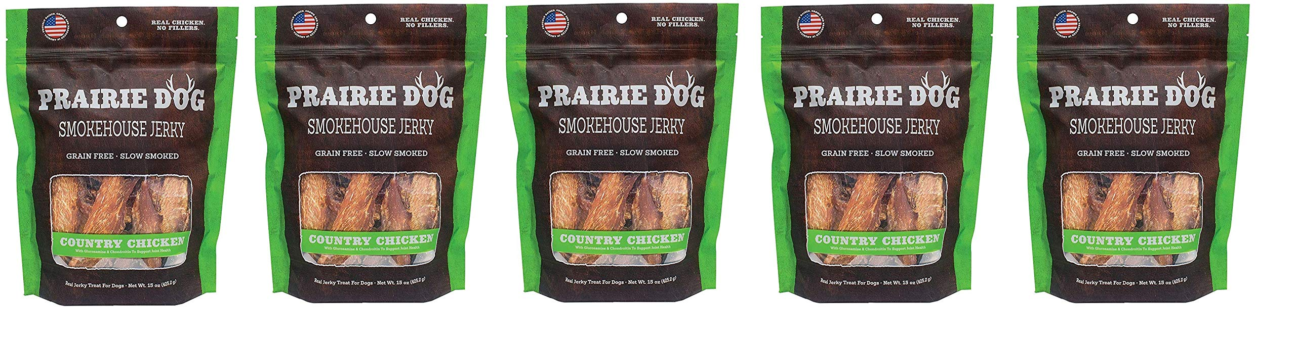 PRAIRIE DOG PET PRODUCTS Smokehouse Jerky, 15 Oz, Country Chicken (Fivе Расk)