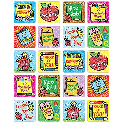 Carson Dellosa School Days: Kid-Drawn Motivational Stickers (0630): Carson-Dellosa Publishing: Office Products