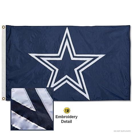 9ded2fe0 Amazon.com : Wincraft Dallas Cowboys Embroidered Nylon Flag : Sports ...