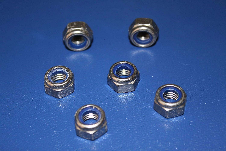 100, M6 Sicherungsmuttern Edelstahl 100 St/ück M6 DIN 985 selbstsichernde Muttern mit Polyamidklemmteil A2 Stopmuttern