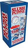 Slush Puppie 20-Piece Paper Cups and Straws, Plastic, White/Blue, 25 x 8.5 x 9 cm