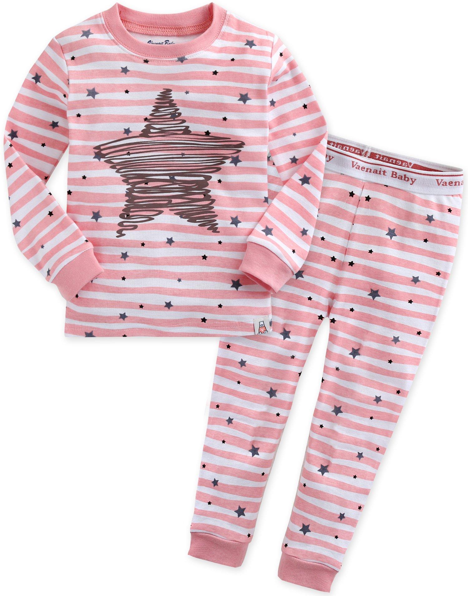 Vaenait baby 12M-7T Kids Girls Sleepwear Pajama 2pcs Set Bling Pink XS