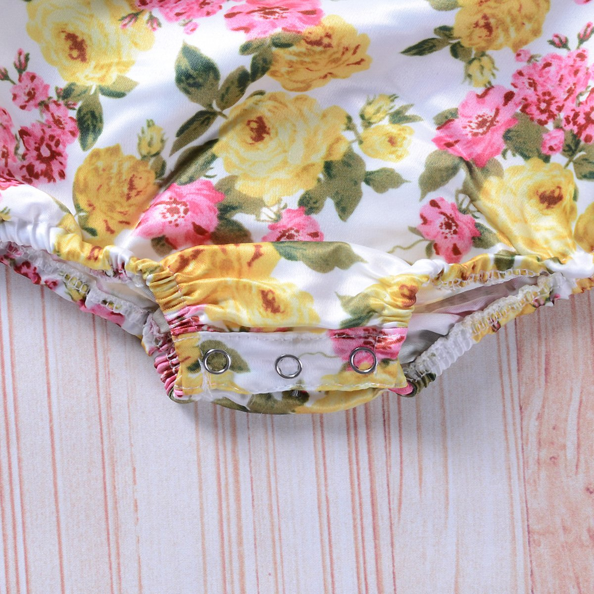 Infant Toddler Baby Girl Floral Romper+Suspender Shorts Overalls Jumpsuit Set