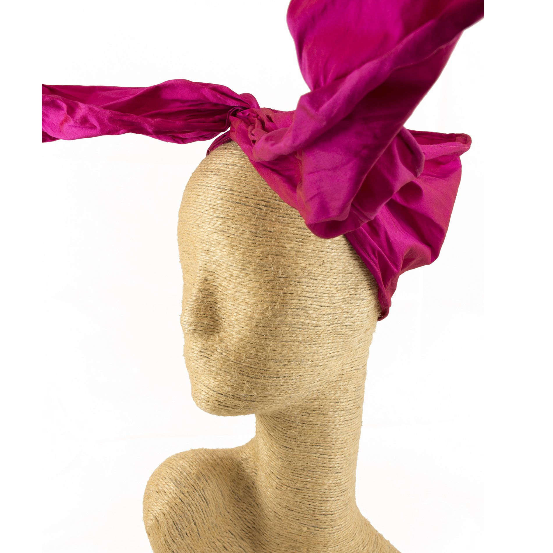 Fascinator, Silk Headbands, Millinery, Worldwide Free Shipment, Delivery in 2 Days, Customized Tailoring, Designer Fashion, Head wrap, Bohemian Accessories, Hot Pink, Boho Chic, Gift Box