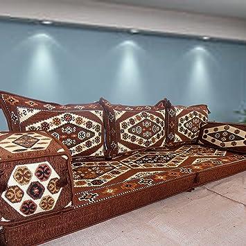 Nice Ethnic Tribal Middle Eastern Arabic Majlis Turkish Kilim Rug Patterned  Living Room Hookah Bar Floor Seating