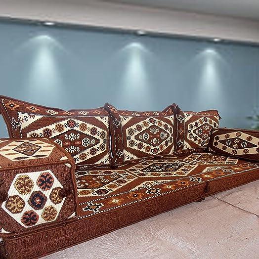 Ethnic Tribal Middle Eastern Arabic Majlis Turkish Kilim Rug Patterned Living  Room Hookah Bar Floor Seating Part 40