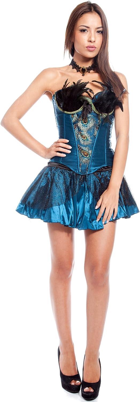 Arunta® Pin Up Corpiño Minifalda Disfraz Juego estilo burlesque ...