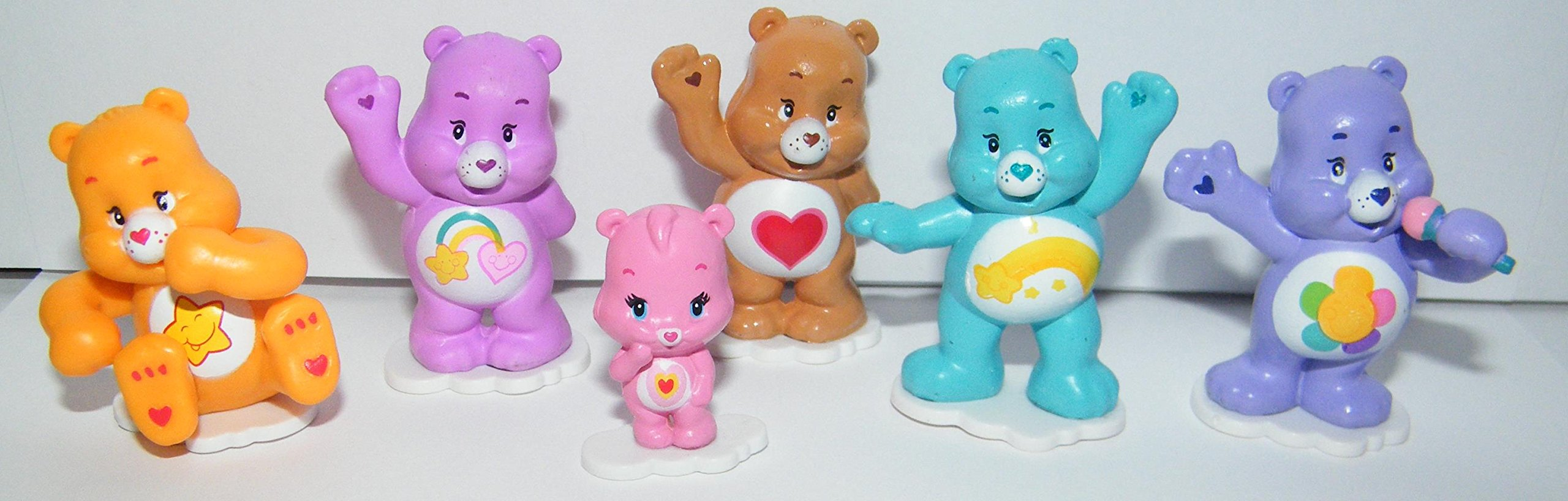 Care Bears Cupcake Topper Birthday Party Decorations Set of 12 Figures with Share Bear, Wonderheart Bear, Grumpy Bear, Wish Bear and Many More! by Care Bears (Image #5)