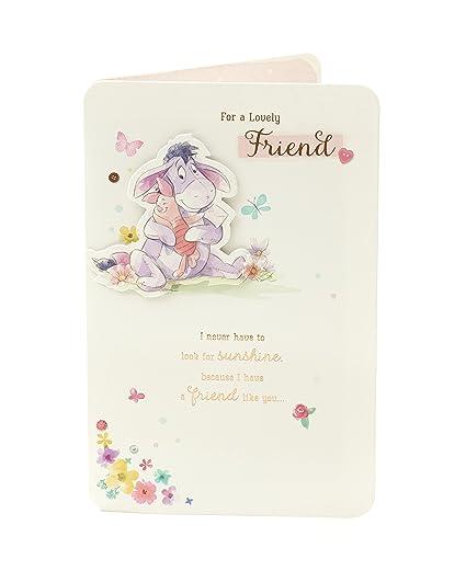Amazon Disney Winnie The Pooh Eeyore Friend Birthday Card