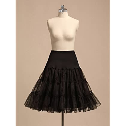 7d9f65a664a19 ... AWEI Women s 50s Rockabilly Petticoat Skirt 25 ...