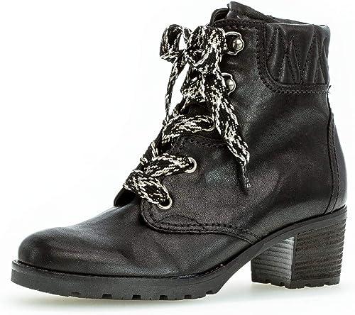 Damen Stiefeletten Schuhe Gabor Schwarz Schnür Stiefelette