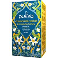 Pukka Chamomile, Vanilla & Manuka Honey, Organic Herbal Tea with Sweet Fennel Seed and Licorice Root for a Calming…