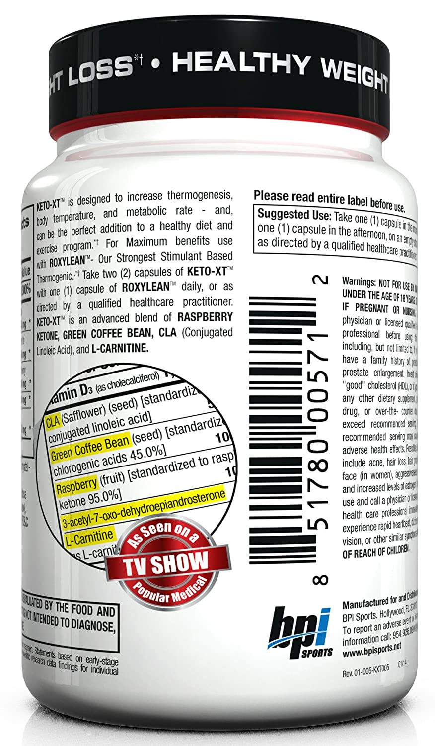 Amazon: Bpi Sports Herbal Mineral Supplement, Ketoxt, 60 Count: Health  & Personal Care