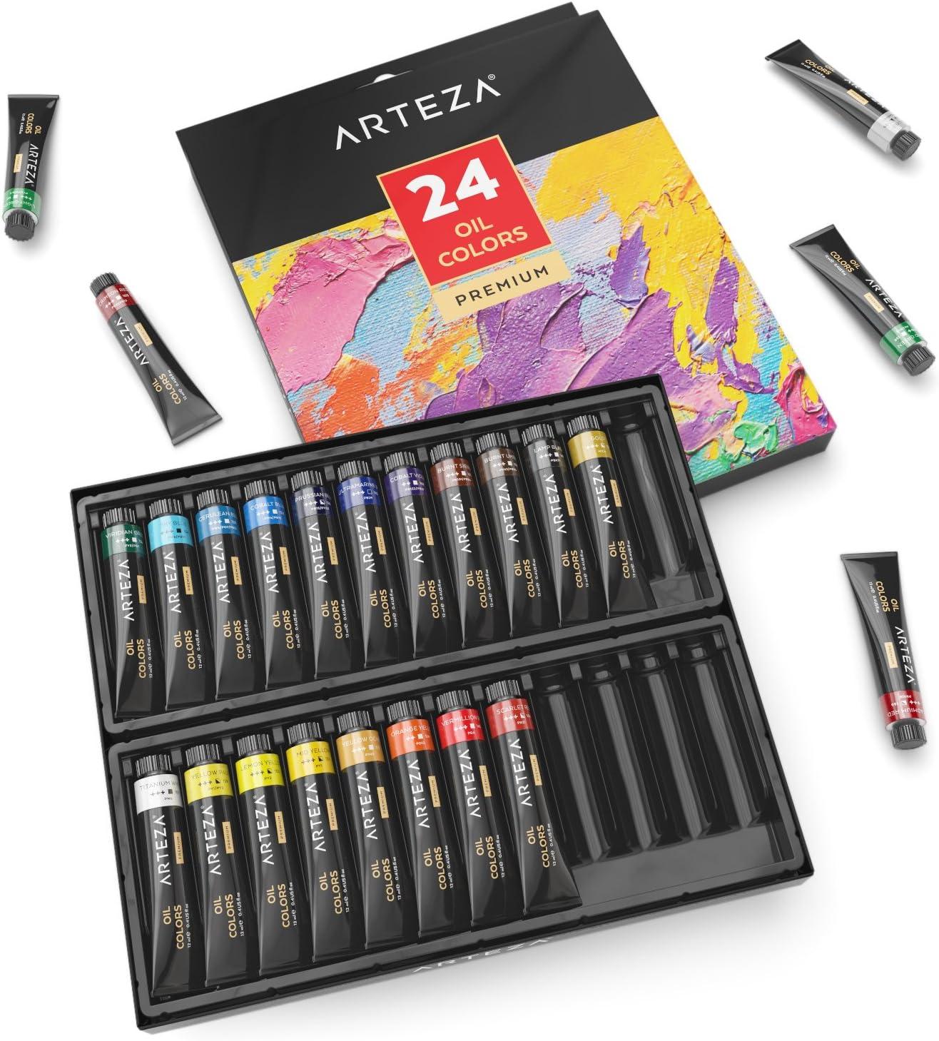 Pintura al óleo ARTEZA  tubos 24x12ml (DC4T)