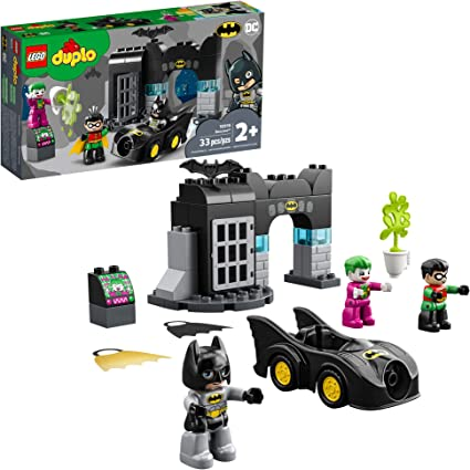 Amazon Com Lego Duplo Batman Batcave 10919 Action Figure Toy For Toddlers With Batman Robin The Joker And The Batmobile Great Gift For Super Hero Kids Who Love Imaginative Play New 2020 33