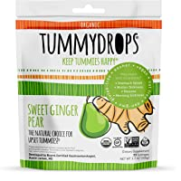 Sweet Ginger Pear Tummydrops (Resealable Bag of 33 Individually Wrapped Drops) Certified...