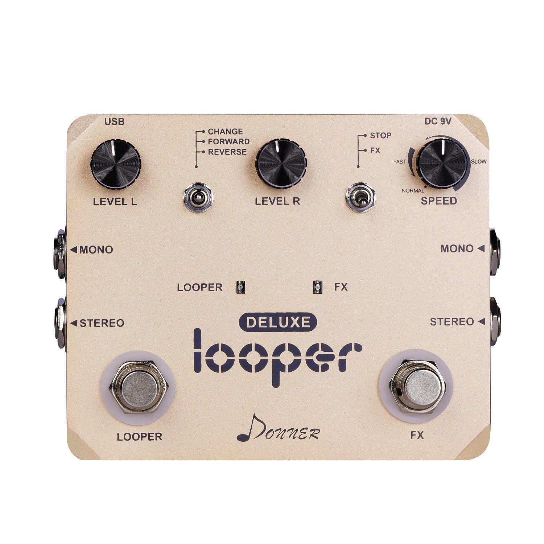 Donner Deluxe Looper Gitarre Effektpedal Loop Station EC908-DE-DN