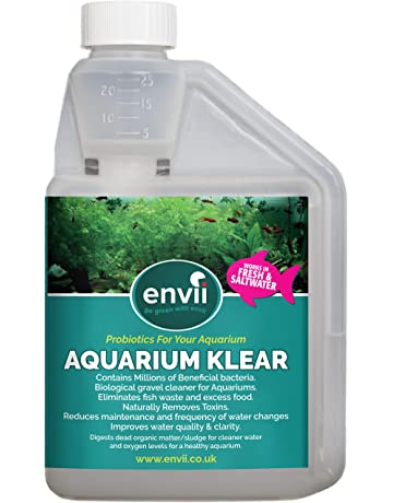 Envii Aquarium Klear – Tratamiento Bacteriano para Algas de Acuario Clarifica el Agua y Grava &