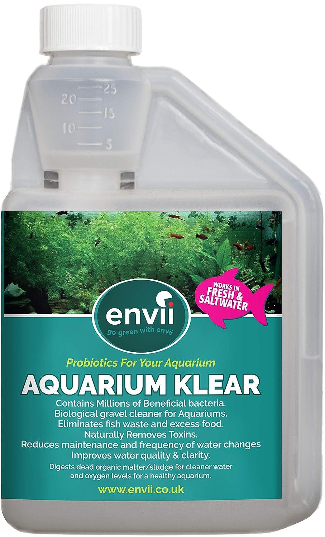 Envii Aquarium Klear - Tratamiento Bacteriano para Algas de Acuario Clarifica el Agua y Grava & Elimina las Algas Verdes - 500 ml: Amazon.es: Productos para ...