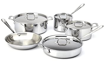 all clad stainless steel 9piece cookware set