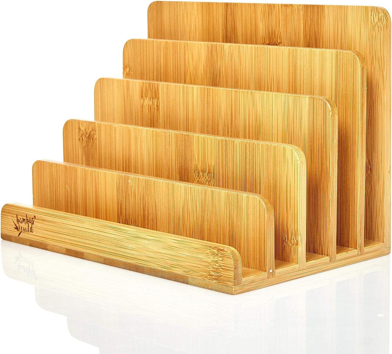 in Deutschland gefertigt Dokumentenablage aus Holz mit Organizer f/ür Stifte und andere Untensilien