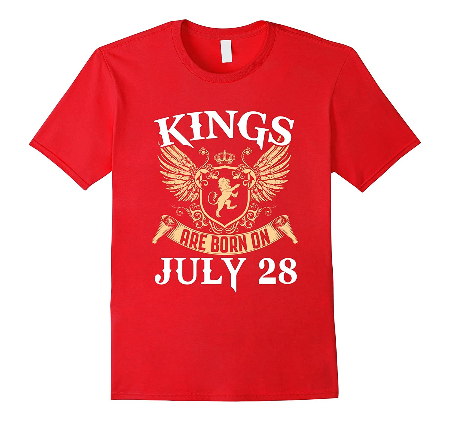Kings Are Born On July 28 Birthday T-shirts-PL