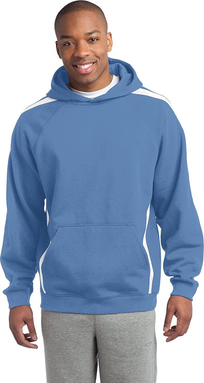 Sport-Tek Men's Sleeve Stripe Pullover Hooded Sweatshirt