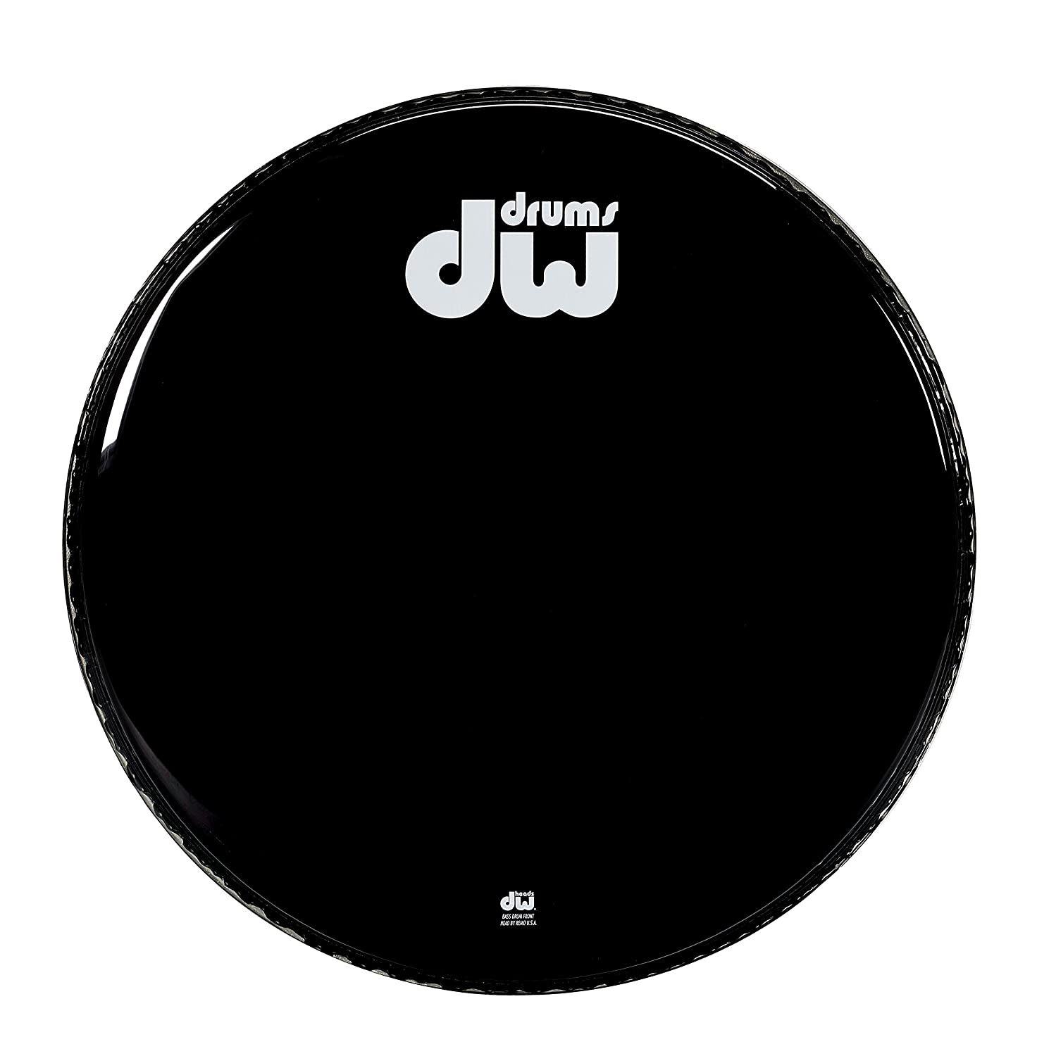DW Drum Workshop 22 Gloss Black Bass Drum Head DRDHGB22KNV