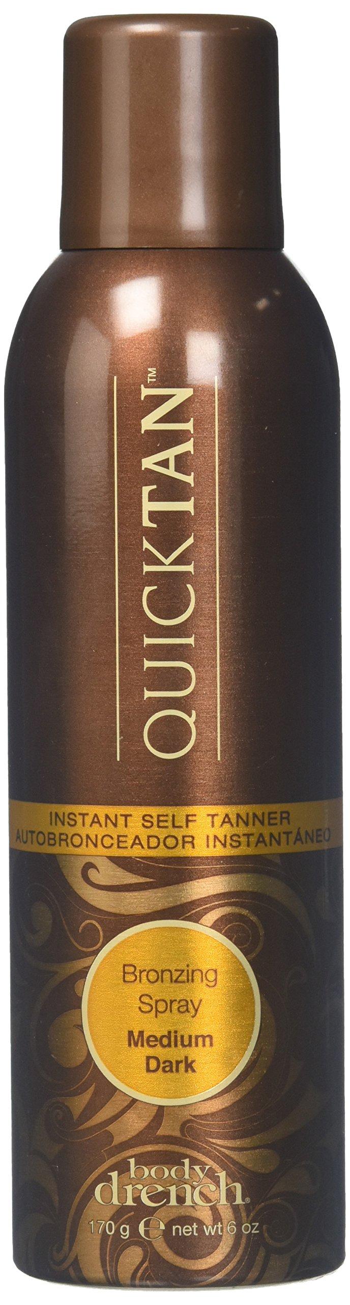 Body Drench QuickTan Bronzing Spray Instant Self Tanner, Medium/Dark, 6oz, 3 Pack