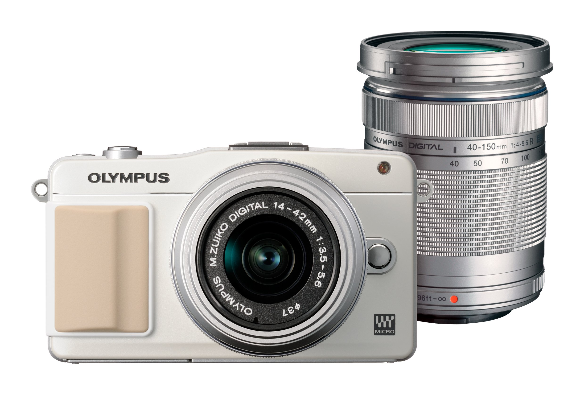 OLYMPUS ミラーレス一眼 PEN mini E-PM2 ダブルズームキット ホワイト E-PM2 DZKIT WHT product image