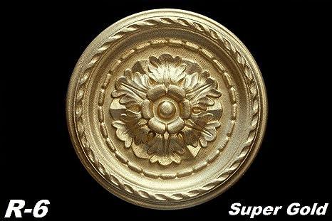 R-7 SUPER GOLD 1 Rosette Polystyrol Decke Deckenrosette Dekorrosette Ø40cm