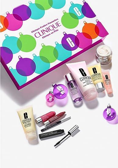 Amazon Com Clinique Festive Favourites 10 Piece Skincare Makeup Holiday 2018 Gift Set Beauty