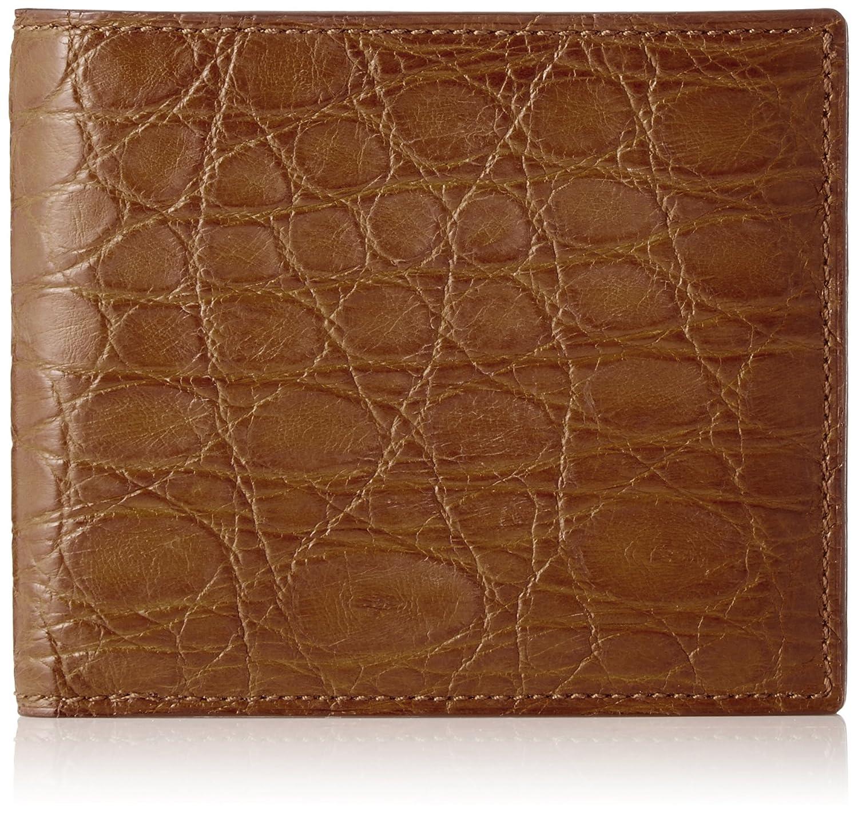 [セパージュ] 財布 ワニ革 二つ折り財布 カードポケット付き 小銭入れなし 紳士用 日本製 CPAA003NT B01L6QFODE オーク オーク