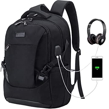 the best attitude 4f6ed f8649 Tzowla Travel Laptop Backpack, Waterproof Business Work Backpack with USB  Charging Port & Headphone Port for Men Women Durable Netbook Computer ...