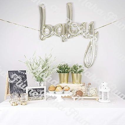 Amazon.com: Globo de oro para bebé con letras de globos de ...