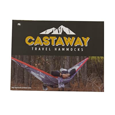 Castaway Hammocks Double Travel Hammock, Red/White/Blue: Sports & Outdoors