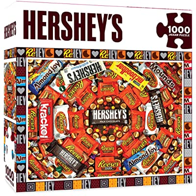 MasterPieces Hershey\'s Jigsaw Puzzle, Swirl, Chocolate Collage, 1000 Pieces: Toys & Games [5Bkhe0200392]