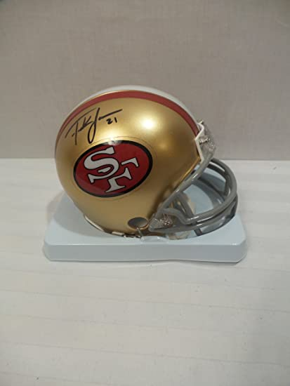 Image Unavailable. Image not available for. Color  Frank Gore Signed San  Fran 49 ers Autographed Riddell Mini Helmet Certified Authentic Autographed 320d85cc6