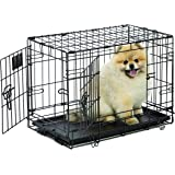 Life Stages LS-1622DD Double Door Folding Crate for X-Small Dogs(2 - 10lbs)