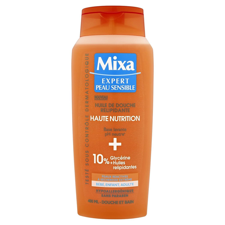 Mixa Expert Sensible Duschöl, Relipidante Haute Nutrition, 400 ml
