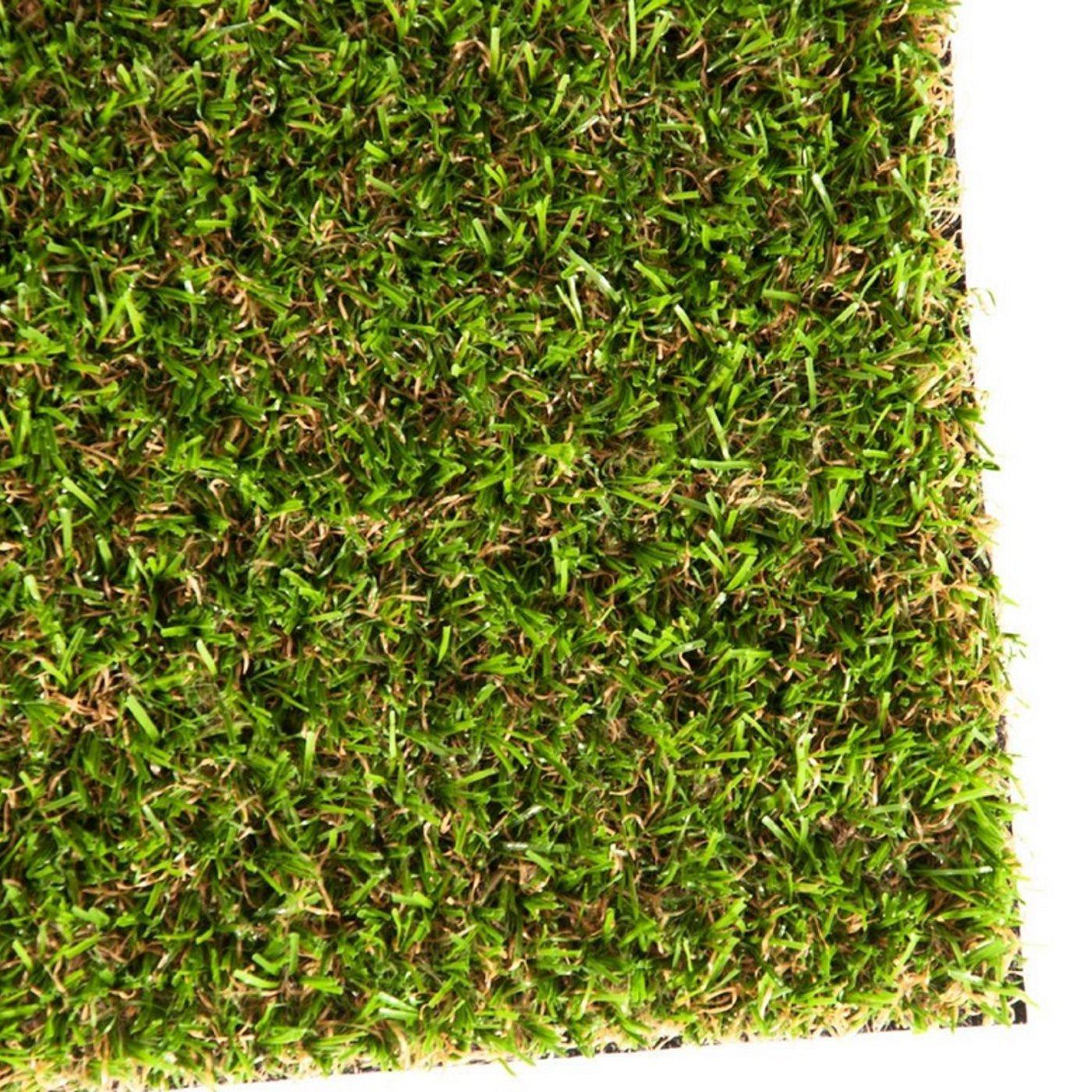 Gazon artificiel casa pura Oxford | pelouse synthétique pour terrasse, balcon etc. | tailles au mètre | poids 1800g/m² - stabilisé UV selon DIN 53387 | 400x133cm